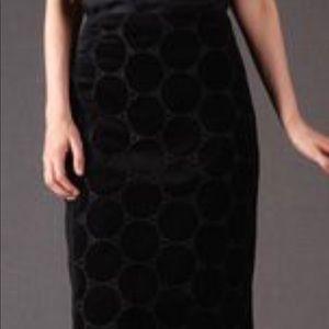 Boden Velvet Circles Skirt
